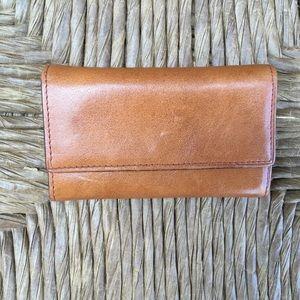 Small Nordstrom Credit Card Fan Wallet Tan